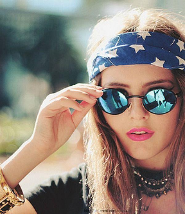 Aynali Bayan Gunes Gozlugu Modelleri 2014 Stylekadin Hippiler Bandana Sac Stili Ve Grunge Moda