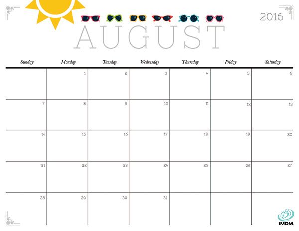 photo relating to Free Printable Calendar August identified as Adorable and Cunning 2019 Calendar No cost, Lovely Cunning
