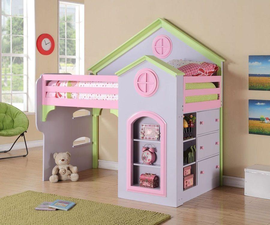 Etagenbett Für Puppenhaus : Puppenhaus loft etagenbett perfekt für kleine mädchen
