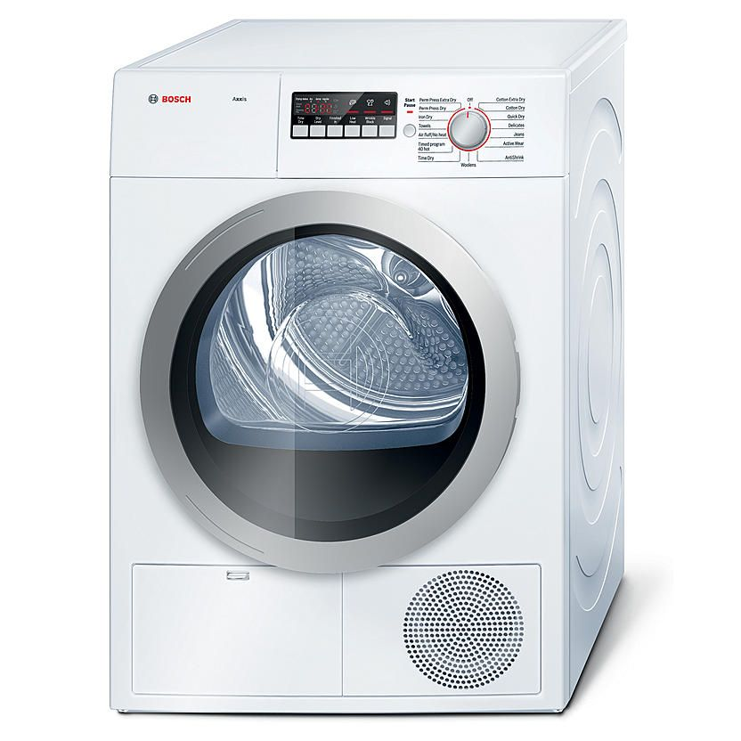 Bosch Axxis 4 0 Cu Ft Condensation Electric Dryer White Electric Dryers Ventless Dryer Compact Washer And Dryer