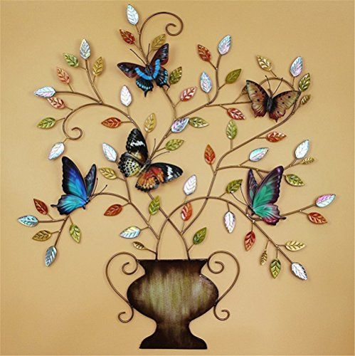 Wrought iron Tree of Life With Butterflies Wall Art - http ...