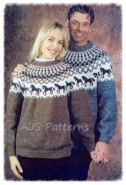 Pdf Knitting Pattern Nordic Lopi Wool Horse Motif Sweater Etsy Sweater Knitting Patterns Knitting Patterns Free Sweater Pattern
