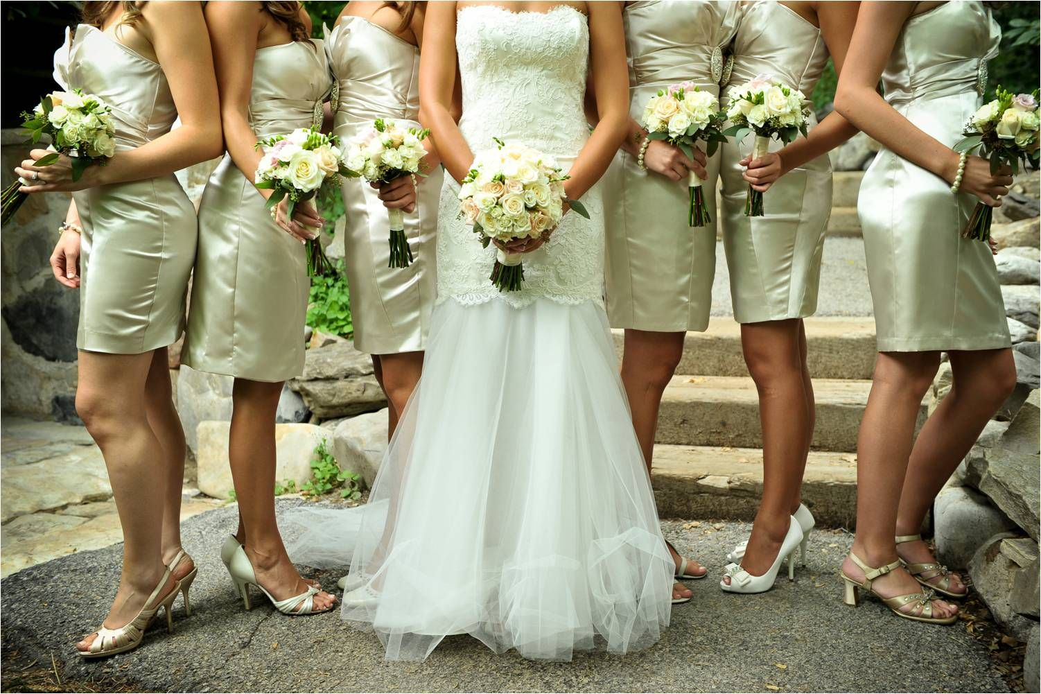 Rustic Outdoor Wedding Utah Ivory Lace Tulle Dress Bride Shows Onewed