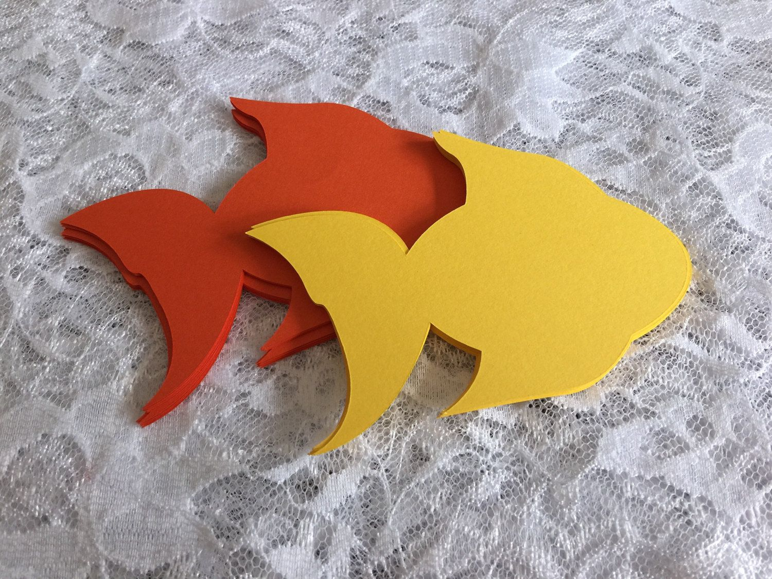 large fish die cut under the sea party goldfish cupcake topper