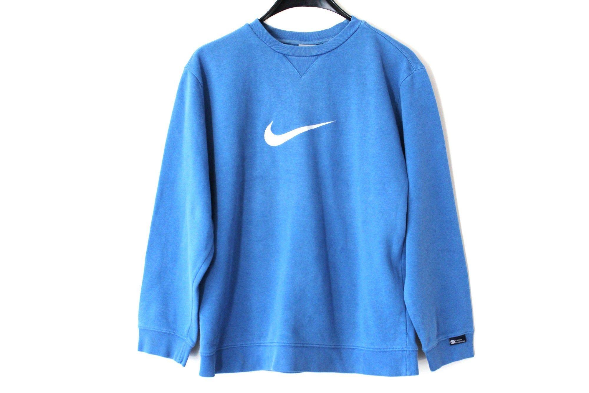 Pino Estimar Monje  Blue Nike Sweatshirt Vintage Nike Jumper Nike Swoosh Nike Pullover Nike  Sweater Hip Hop Streetwear Nike Athletic Sp… | Nike pullover, Nike track  jacket, Sweatshirts