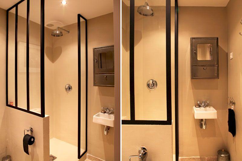 Petites salles d 39 eau on pinterest toilettes modernes and for Difference salle d eau salle de bain