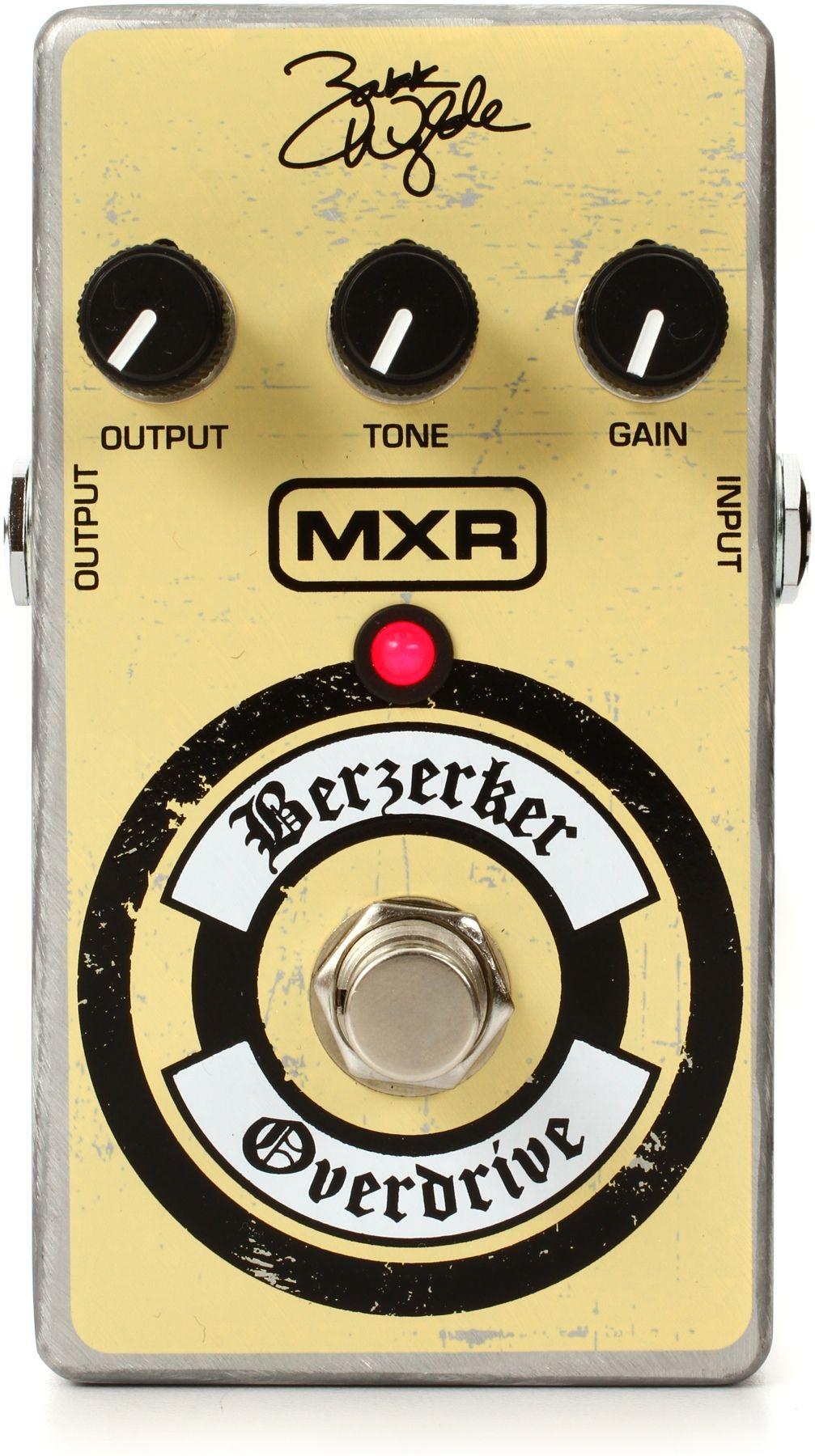 Mxr Zakk Wylde Berzerker Overdrive Guitar Pedals Zakk Wylde Effects Pedals