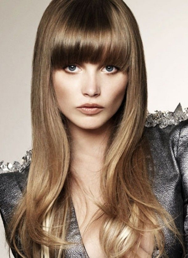 Great Dark Blonde Long Hairstyles For Round Faces Hairstyles