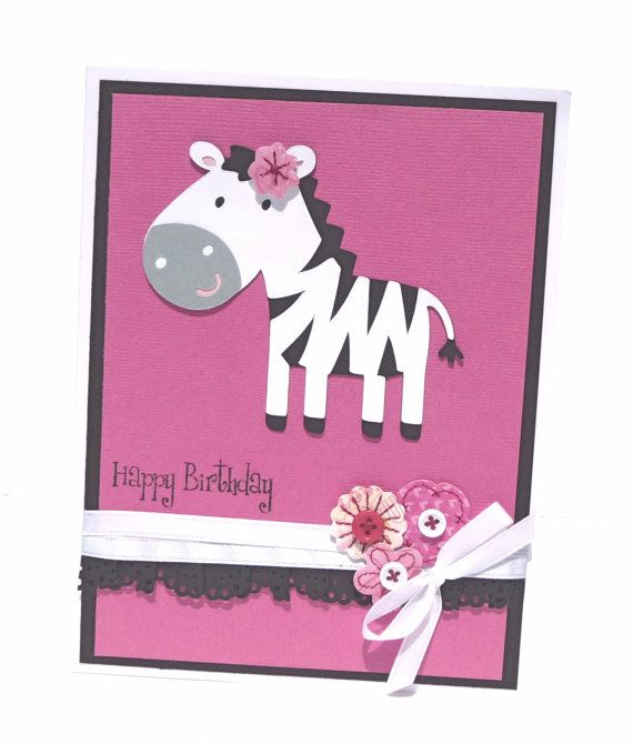 Happy Birthday Greeting Card With Coordinating Embellished