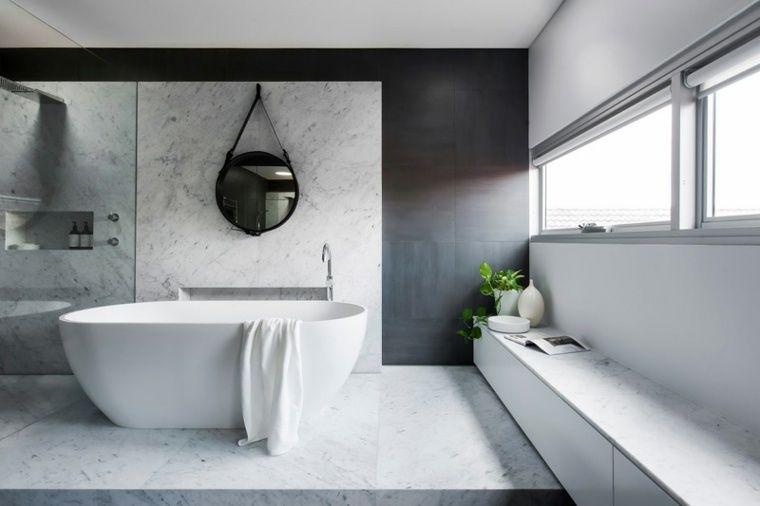 Salle de bains design monochromatique par Minosa Design Spaces - salle de bains design photos