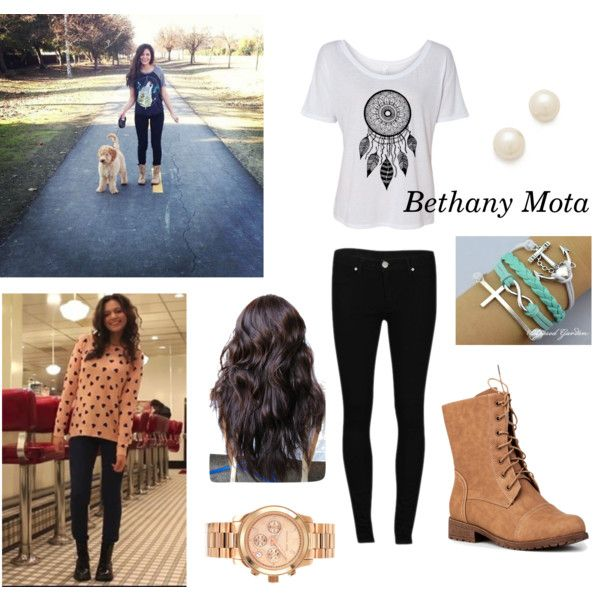 """""""Bethany Mota Inspired Outfit"""" by luhill on Polyvore"""