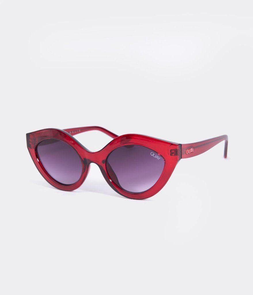 6ef81f522e Quay Red Goodnight Kiss Cat Eye Sunglasses in 2019