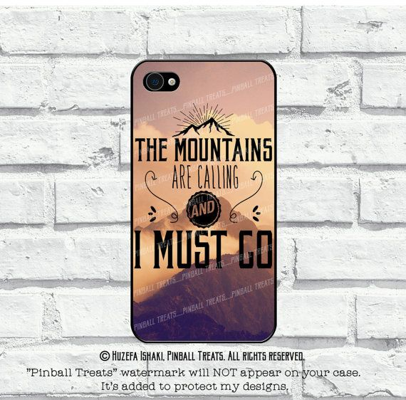 The Mountains Are Calling and I Must Go iPhone 6 by PinballTreats