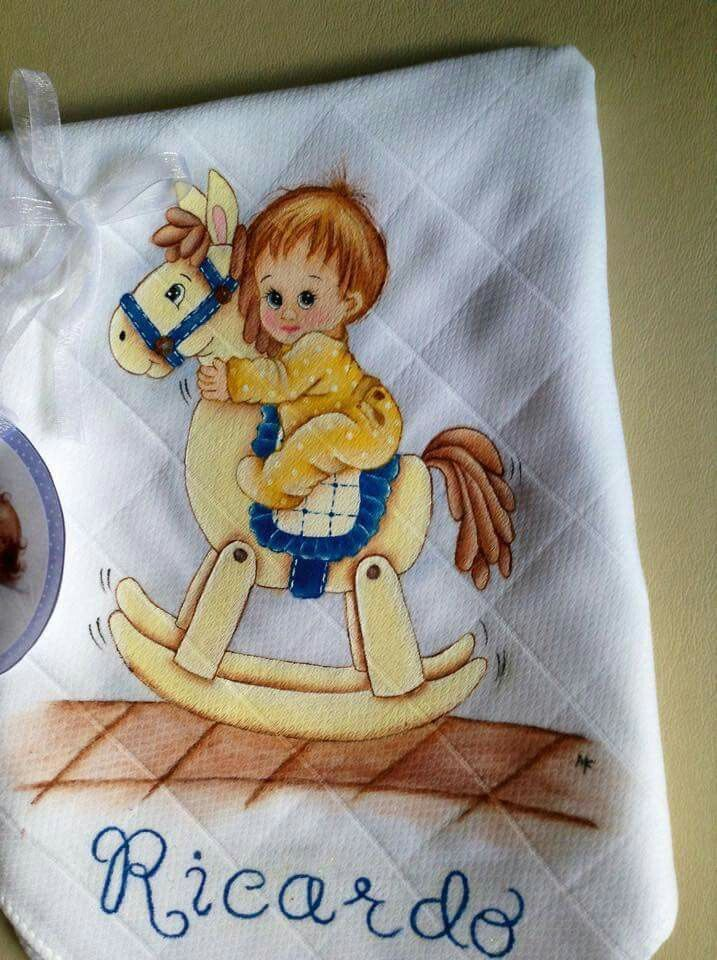 Bebe cavalinho pinturas baby pintura em tecido ideias - Dibujos para pintar en tela infantiles ...