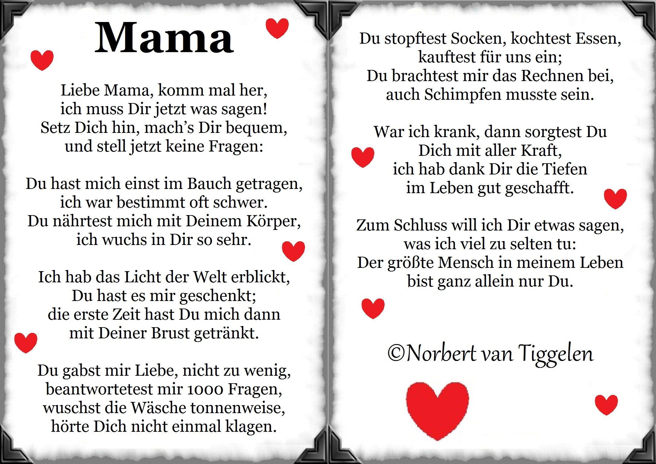 Gedichte mama und papa