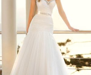 Sheath/Column Chiffon Sweetheart Empire Sweep/Brush Train Wedding Dress - Cheap-dressuk.co.uk