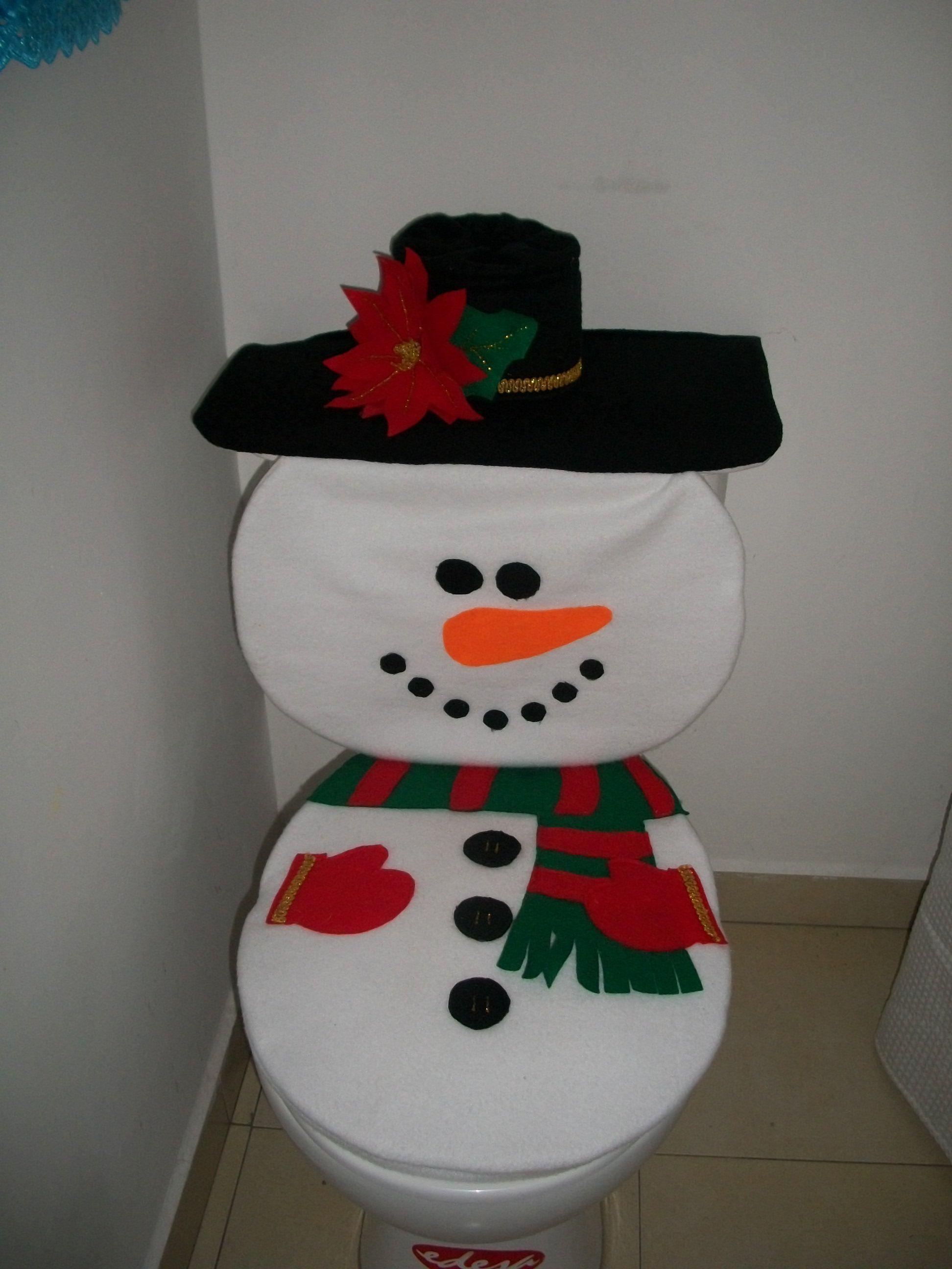 Juego de ba o navide o snowman juegos de ba o navide os - Decoracion navidena para banos ...