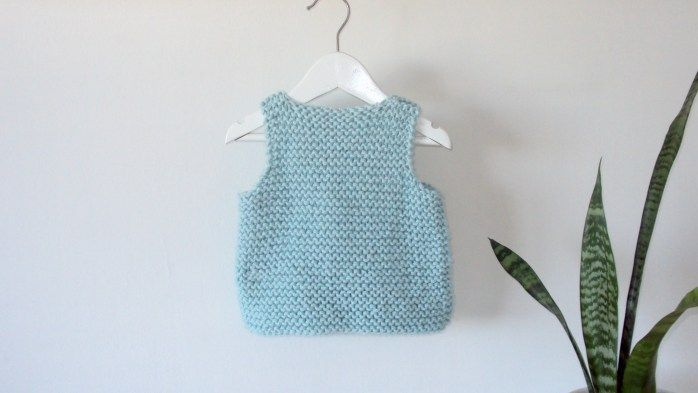 Easy Vest FREE knitting pattern - Newborn to 2 years - Oh ...