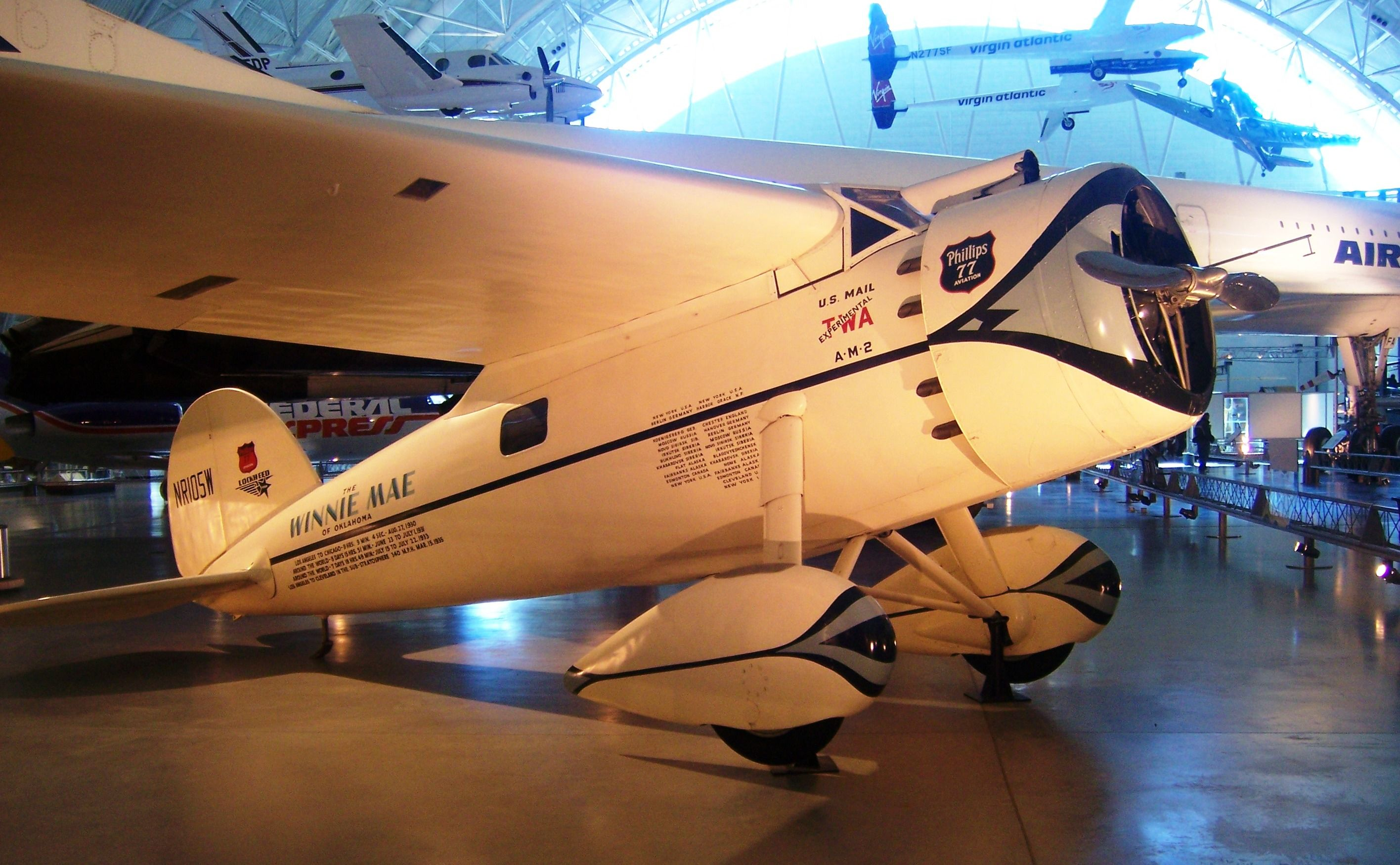 "Lockheed Vega ""Winnie Mae"" Air, space museum, Flight"