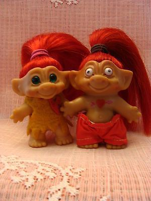 vintage trolls lot red headed rooties for valentine s day