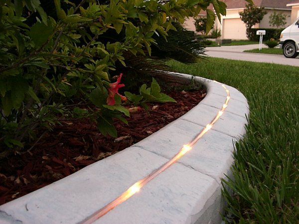 landscaping with curbing integrated