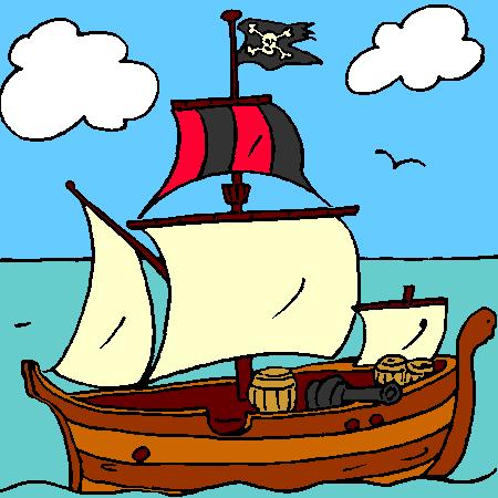 Coloriage Bateau Pirate Couleur.Bateau Voile Voile Bateau Pirate Marnfozine Com