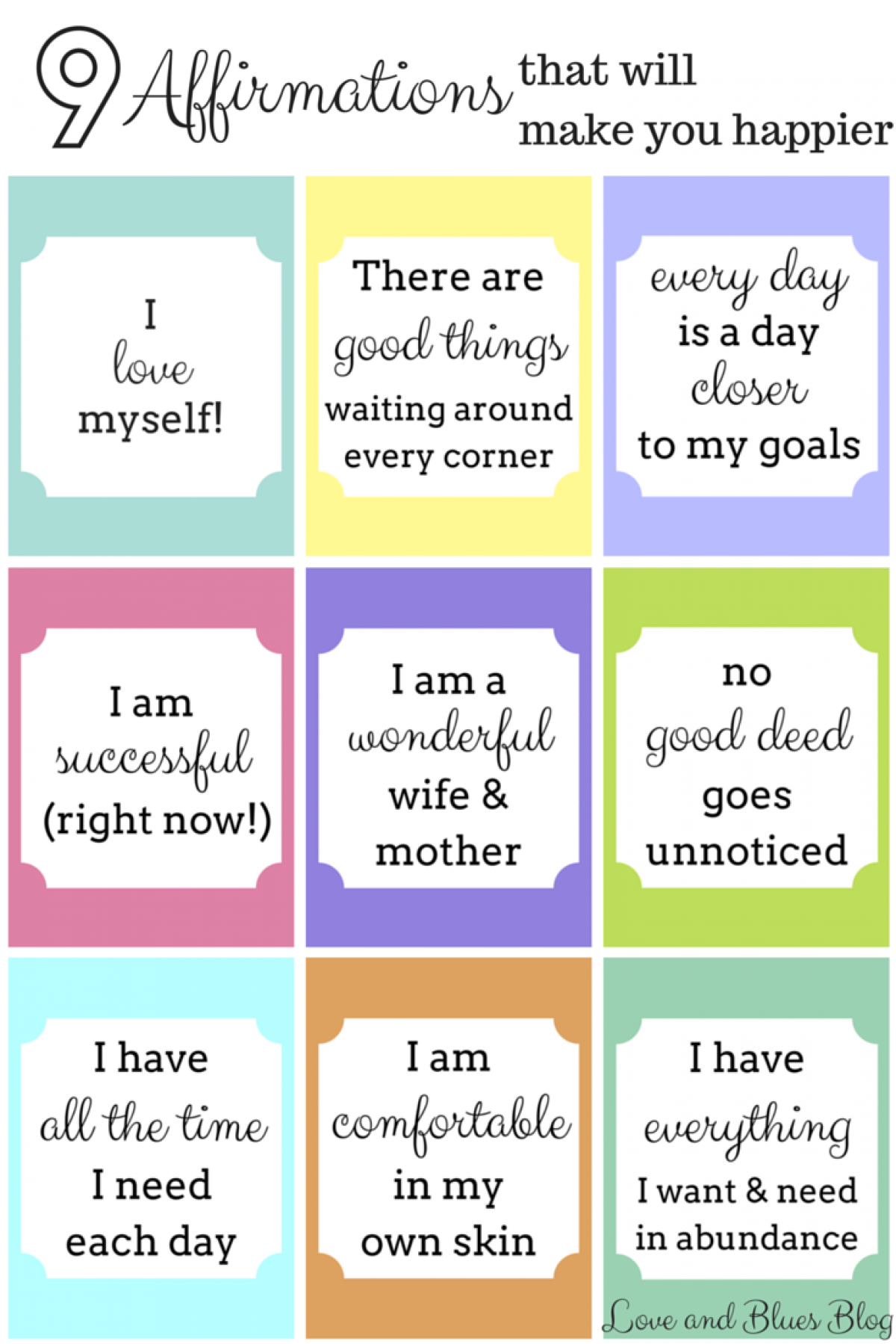 9 Happy Things To Tell Yourself Every Day