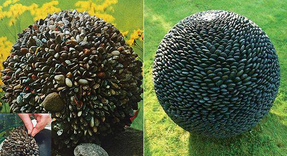 Schon Coole Gartenkugel Und Besondere Gartendeko Selber Machen Mit Steinen