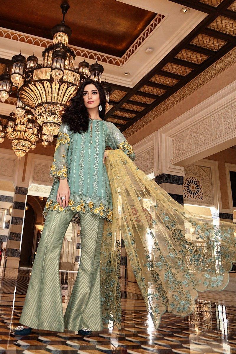 887202094665 Latest Pakistani Dresses Styles Pairing Bell Bottom Pants 2018-19 ...