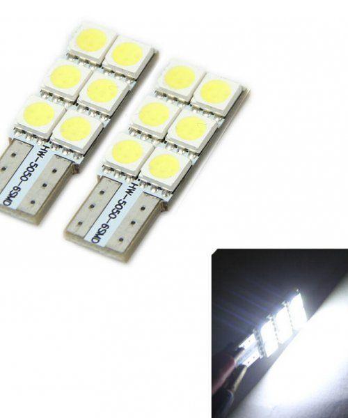 LED Car Lights T10 W5W White 5050 6SMD LED Bulb-