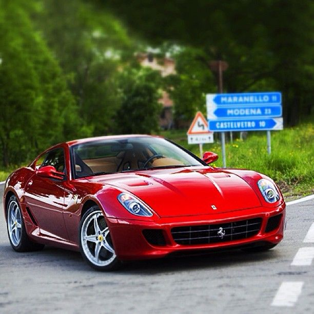 Ferrari 599 GTB In The Hills Behind Maranello