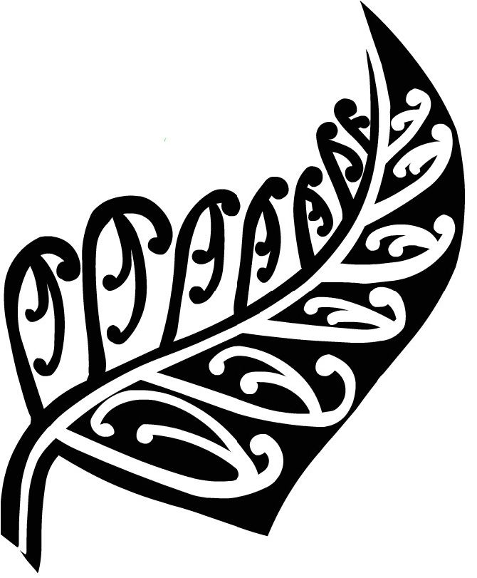 New Zealand Silver Fern Tattoos Blocked Silhouetted Jpg 670 811 Pattern Tattoo Fern Tattoo Ferns