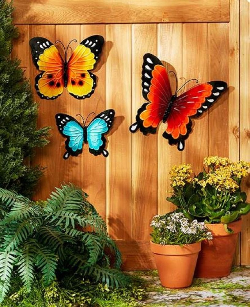 Summer Wall Decor Garden Fence Ornament Butterflies