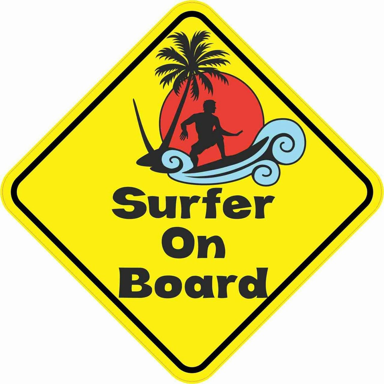 5in X 5in Surfer On Board Sticker Surf Logo Colorful Pictures Surfer [ 1280 x 1280 Pixel ]