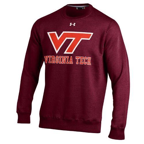 University Bookstore Under Armour Virginia Tech Maroon Crew Virginia Tech Apparel Virginia Tech Tech Shirt