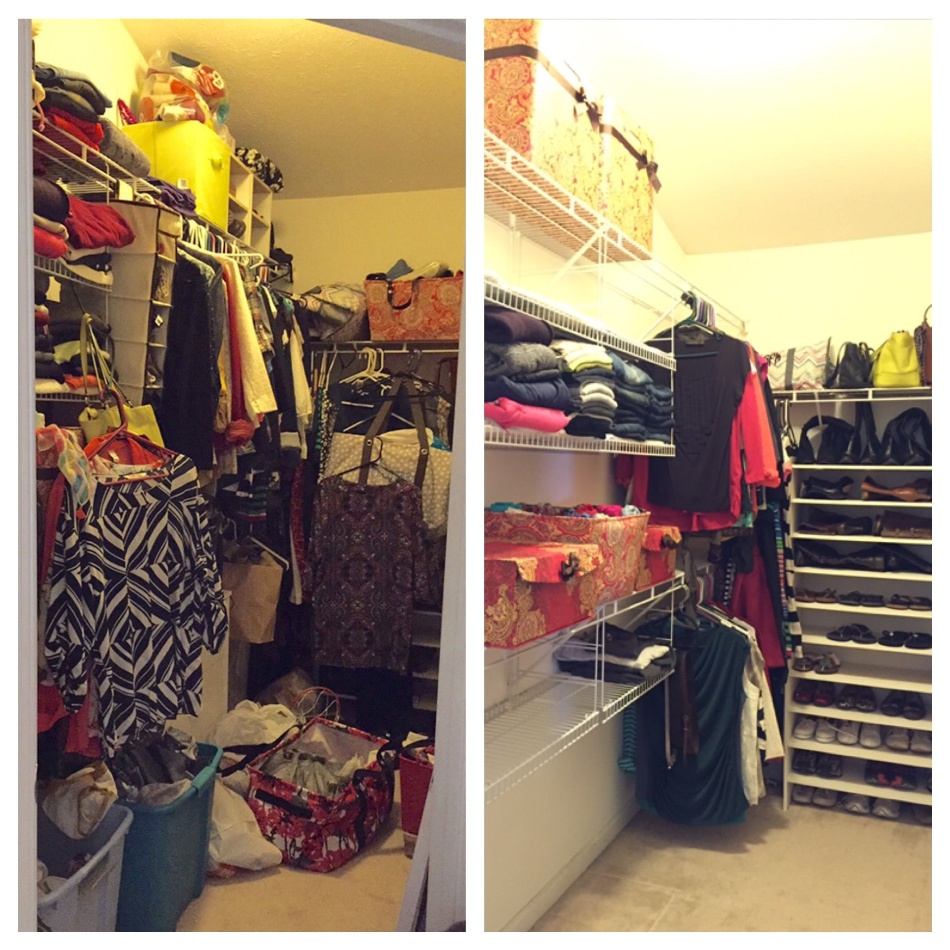 My KonMari'd Master Closet :: Before & After