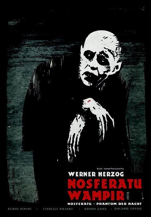 Vintage Polish Theater Poster: Nosferatu  | Art Parts in