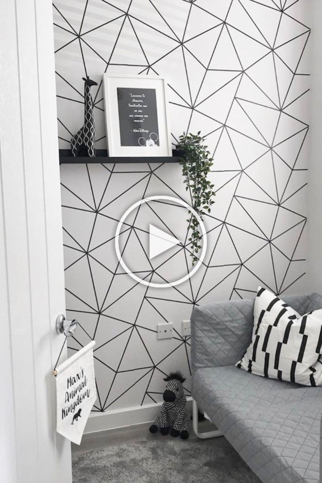To Shop This Exclusive Design Visit Ilovewallpaper Co Uk Ilovewallpaper Homeinter Room Wallpaper Designs Geometric Wallpaper Living Room Bedroom Wall Designs