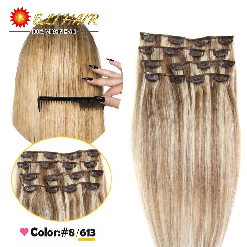 8613 mixed color straight human hair clip in extensions premium 8613 mixed color straight human hair clip in extensions premium quality ash brown pmusecretfo Choice Image