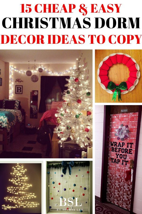 15 Extremely Cute Dorm Christmas Decorations To Copy This Year By Sophia Lee Dorm Room Christmas Decorations Christmas Dorm Decorations Christmas Dorm