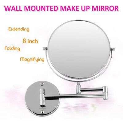 Advertisement 8 Double Sided Wall Mount 10x Magnifying Cosmetic Home Bathroom Swivel Mirror In 2020 Wall Mounted Makeup Mirror Mirror