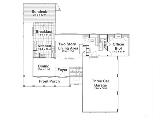 mcintosh ii 1183 4 bedrooms and 35 baths the house designers - Mcintosh House Plans