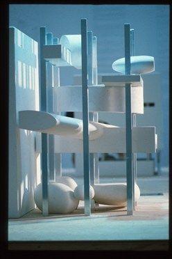OMA - Tres Grande Bibliotheque, negative space model
