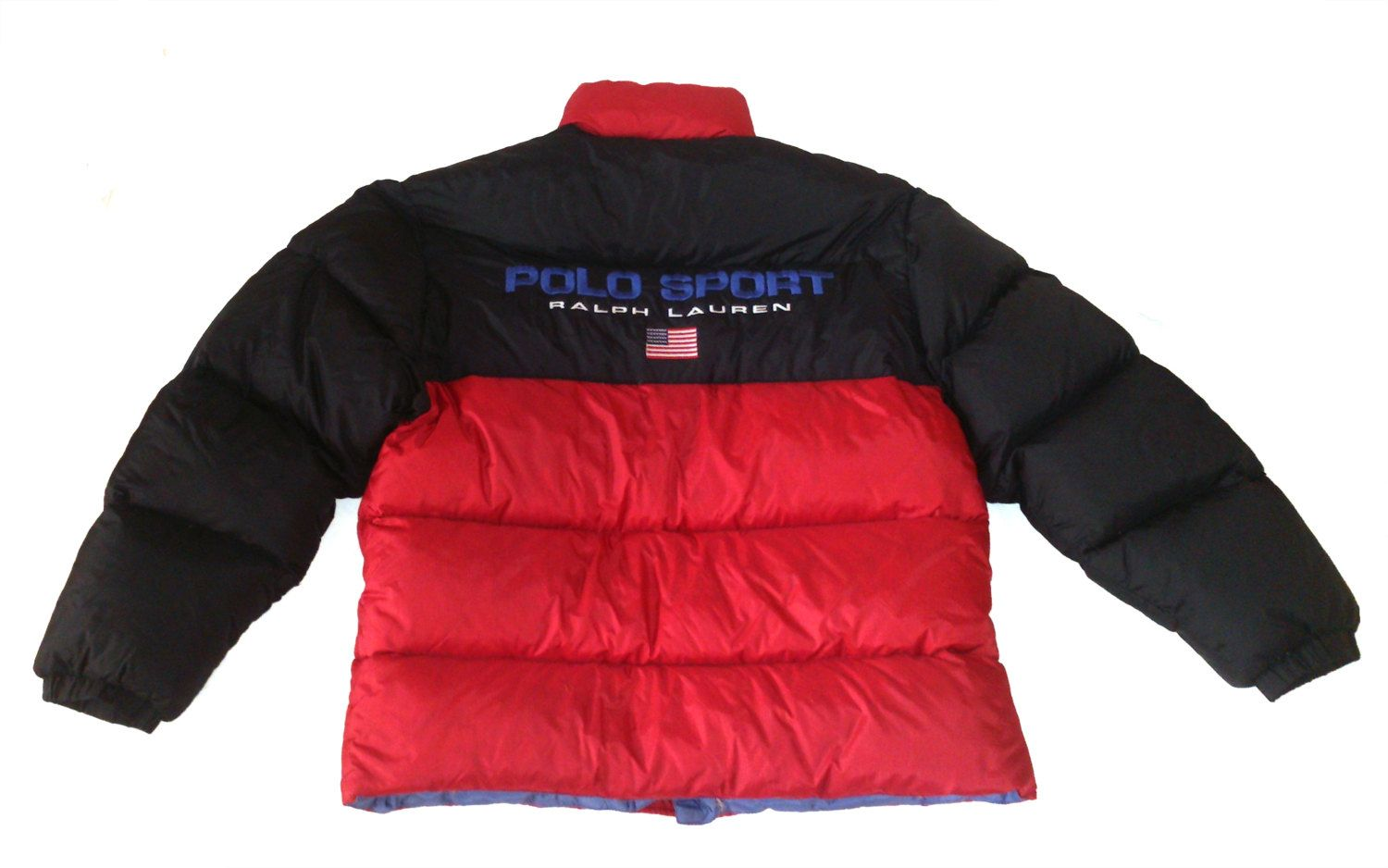 Vintage 90 Polo Sport By Ralph Lauren Goose Down Puffer Jacket Big Logo Spell Out Black Red Size S M Puffer Black And Red Ralph Lauren [ 938 x 1500 Pixel ]