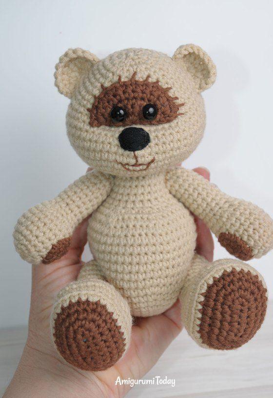 Miel niño oso de peluche - patrón de ganchillo libre | amigurumi ...