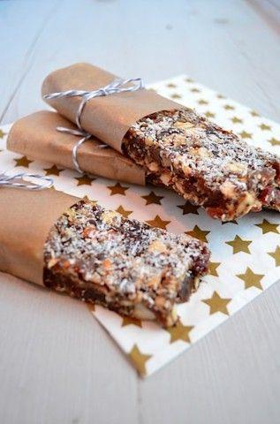 Gezonde snack: Dadel - Noten reep met Chia zaad -