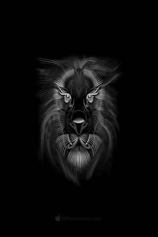Black Lion Sketch Wallpaper For Iphones And Touchscreen Mobiles