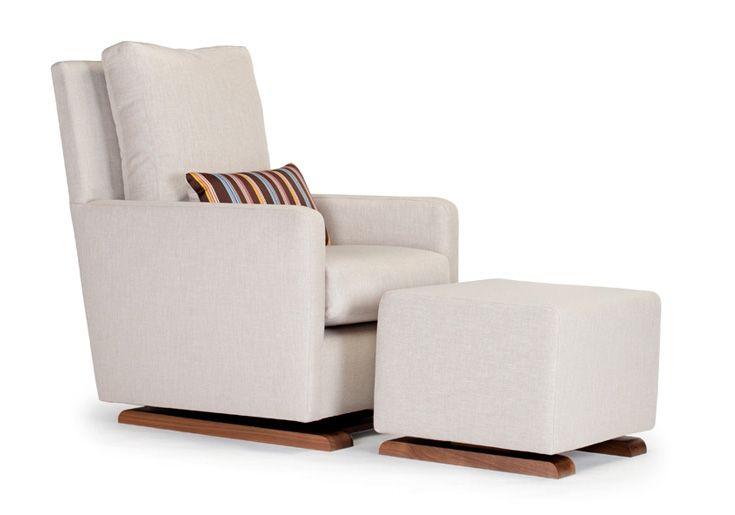 Monte Design Modern Nursery Furniture Upholstered Como Glider And Ottoman Sand Body Shown