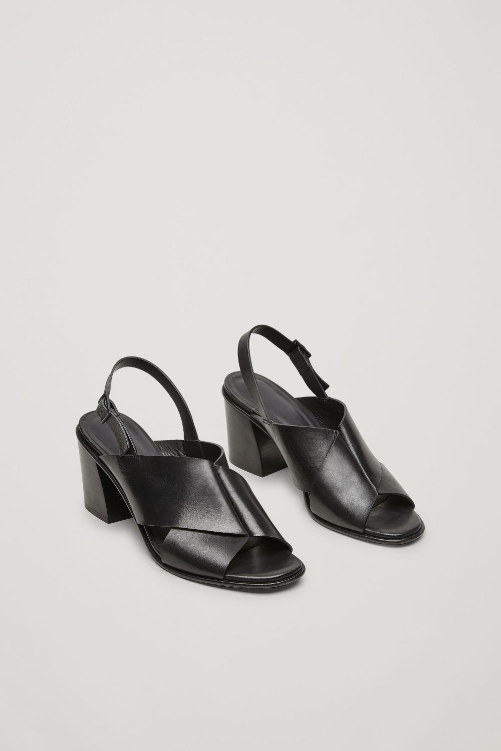 Cos Image 2 Of Folded Strap Sandals In Black Black Sandals Sandals Strap Sandals