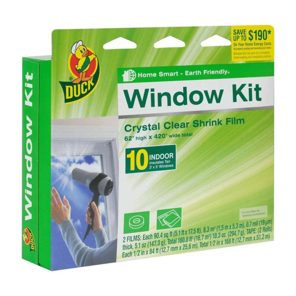 Plastic Shrink Film Indoor Window Kit 62 X420 Heat Insulation